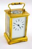 античные часы экипажа стоковое изображение