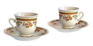 Античные чашка и поддонник фарфора Стоковые Фото