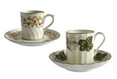Античные чашки фарфора Стоковое Изображение