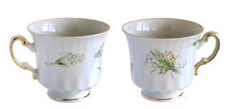Античные чашки фарфора Стоковое Изображение RF