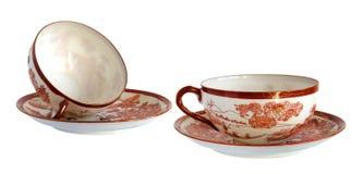 Античные чашки фарфора Стоковые Фотографии RF