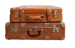 античные чемоданы Стоковые Изображения