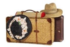 античные чемоданы Стоковая Фотография