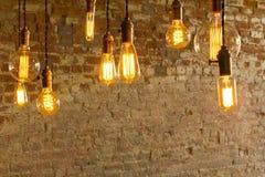 Античные электрические лампочки стоковое фото
