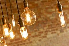 Античные электрические лампочки Стоковые Изображения