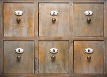 античные ящики шкафа древесину Стоковые Фото