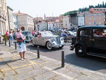 Античный автомобиль в Piran Стоковое Фото