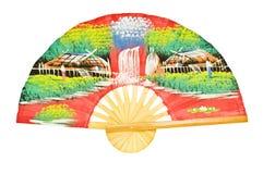 античный азиатский вентилятор деревянный Стоковые Фотографии RF