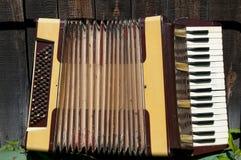 Античный аккордеон стоковое изображение