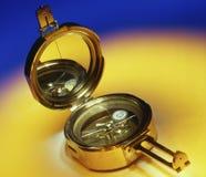 Античный латунный компас Стоковое Изображение RF