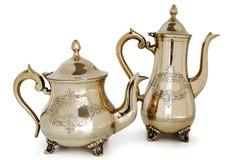 Античный латунный чайник стоковые фотографии rf