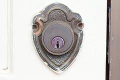 Античный латунный keyhole входа Стоковая Фотография RF