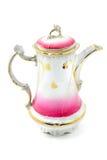 Античный бак кофе сделал фарфор искусства Nouveau Стоковое фото RF