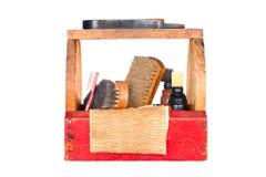 античный ботинок shine коробки стоковое изображение