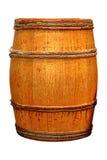 Античный бочонок вискиа или вина изолированный на белизне Стоковое Фото