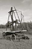 Античный бурильщик отверстия (черно-белый) стоковые изображения rf