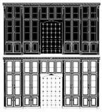 античный вектор книжных полок 02 иллюстрация вектора