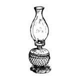 Античный вектор фонарика Стоковое Фото