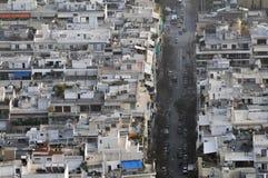 Античный висок зданий ориентир ориентиров символов города Афины 2010 Греция Стоковые Изображения RF