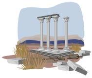 античный висок руин Стоковое Изображение