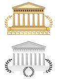 античный висок фасада Стоковые Фото