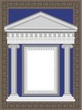 античный висок фасада Стоковое Изображение