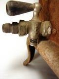 Античный газовый кран подогревателя Bunsen дуо упаковщиков Стоковая Фотография