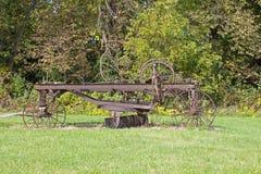 Античный грейдер дороги стоковая фотография rf