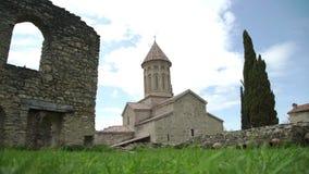 Античный грузинский монастырь Ikalto в Georgia видеоматериал