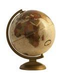 Античный глобус на белизне Стоковые Изображения