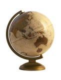 Античный глобус на белизне Стоковая Фотография