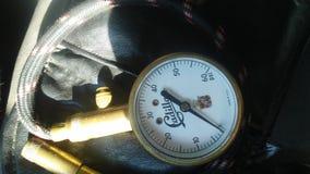 Античный датчик автошины стоковое фото rf