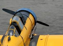 античный желтый цвет самолет-истребителя Стоковая Фотография RF