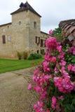 Античный замок камня стиля, Франция Стоковое фото RF