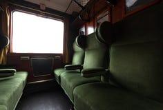 Античный интерьер поезда стоковые фотографии rf