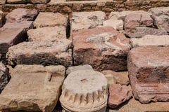 Античный камень в виске Кипра Стоковая Фотография RF