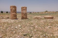 Античный камень в виске Кипра Стоковые Изображения RF