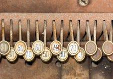 античный кассовый аппарат Стоковая Фотография RF