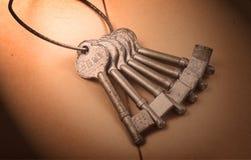 античный ключ Стоковые Изображения