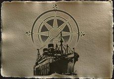 античный корабль Стоковая Фотография