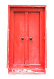 античный красный цвет двери Стоковые Фотографии RF