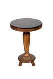 античный круглый стол деревянный Стоковое фото RF