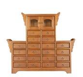 античный кухонный шкаф деревянный Стоковая Фотография