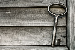 античный ключ Стоковое Фото