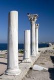 античный мрамор hersones Крыма колонок стоковые изображения