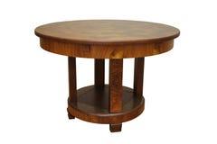 Античный обеденный стол стиля Арт Деко грецкого ореха на белой предпосылке Стоковое Изображение RF