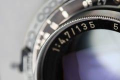 античный объектив фотоаппарата Стоковая Фотография