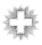 античный перекрестный вектор гравировки Стоковое фото RF