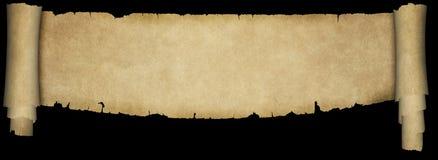 Античный перечень пергамента на черной предпосылке иллюстрация штока