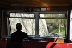 античный поезд водителя Стоковое фото RF